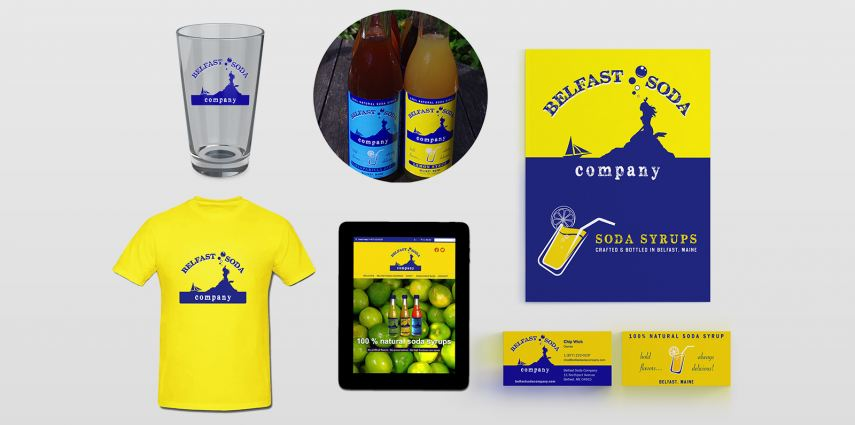 Complete marketing solutions including creation of logo and branding, packaging (bottle labels, beverage 4-pack), marketing collateral, merchandise, an e-commerce website, social media presence and business consulting.