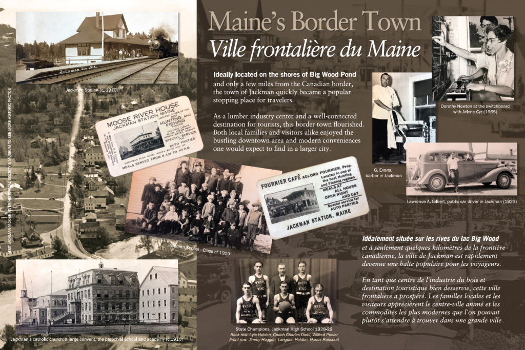 Interpretive panels History of Jackman Maine