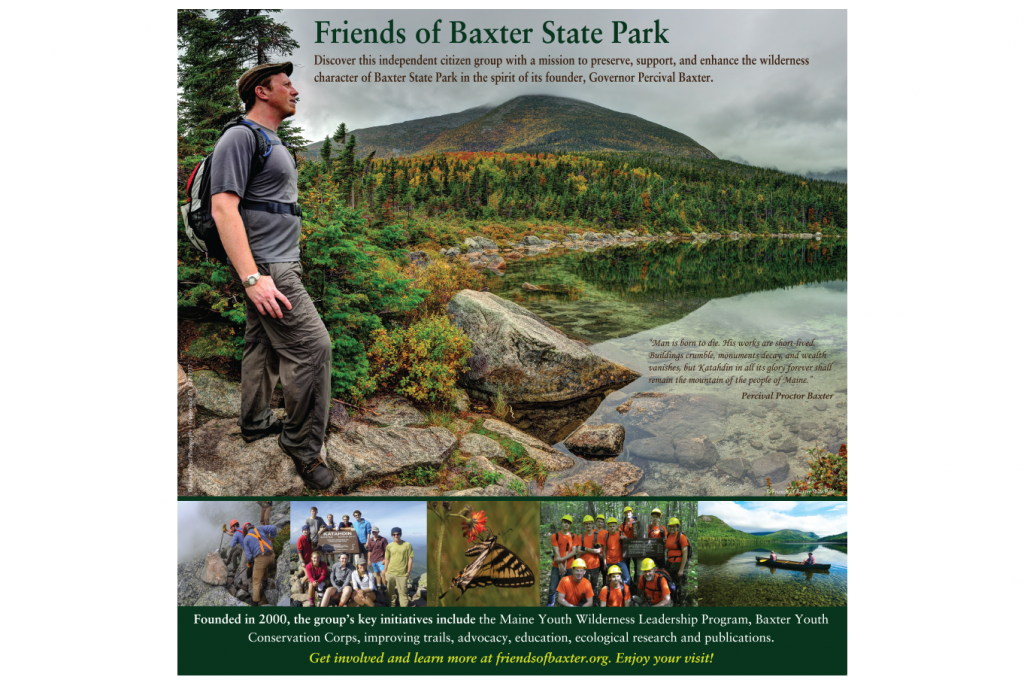 "Interpretive panels ""Friends of Baxter State Park"""
