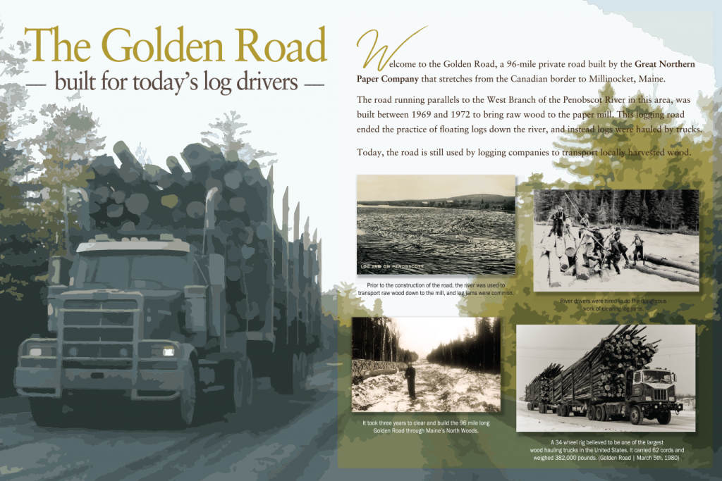 "Interpretive panels ""Golden Road"", Maine"