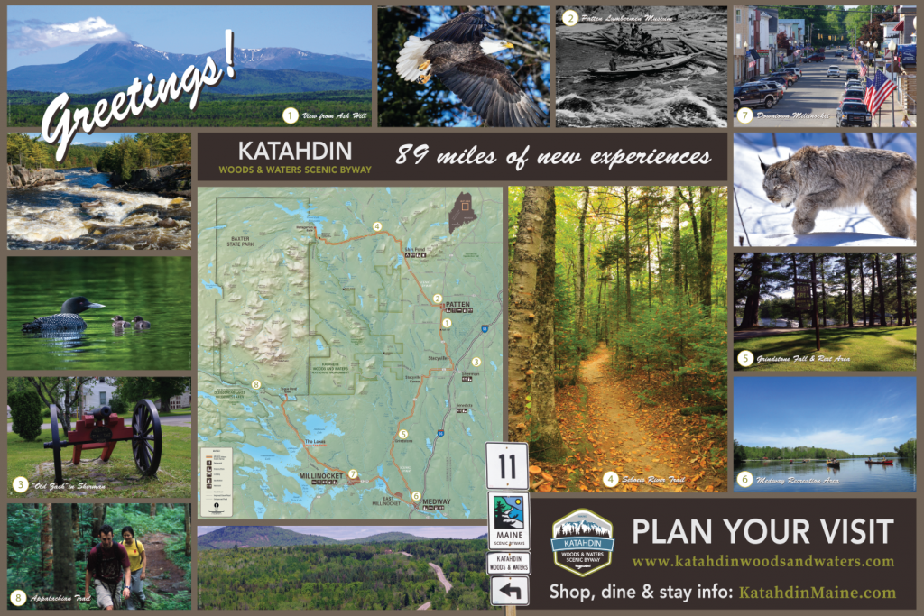 Interpretive panels Greetings Katahadin Scenic Byway
