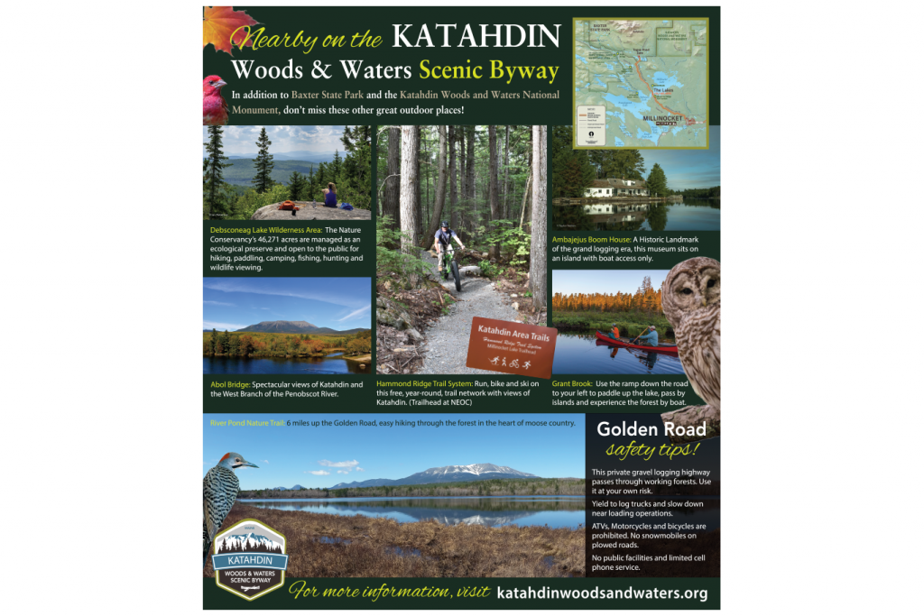"Interpretive panels ""Nearby-on-the-Katahadin Scenic Byway"""